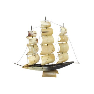 Italian Horn Ship Model For Sale