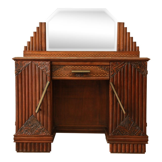 4a34d050922 1930s French Art Deco Marble Top Vanity For Sale