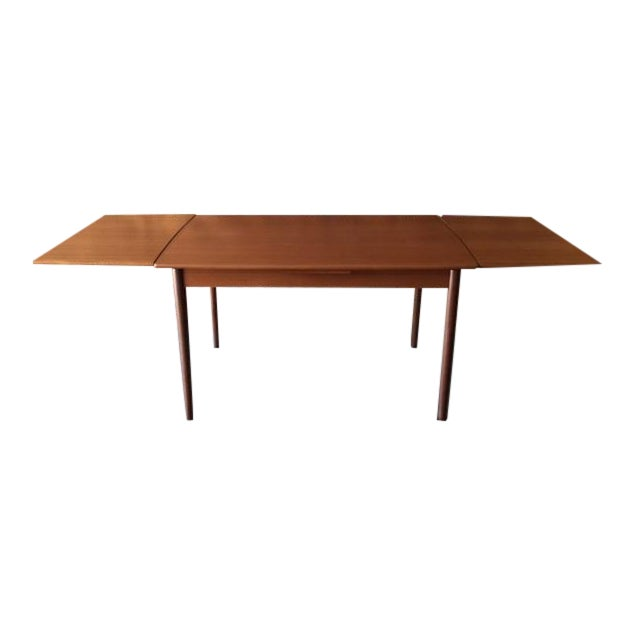 Mid-Century Danish Modern Refinished Dining Table - Image 1 of 8