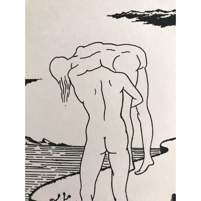 Marc Eemans Lithograph, Bathing 1976 For Sale In Palm Springs - Image 6 of 6