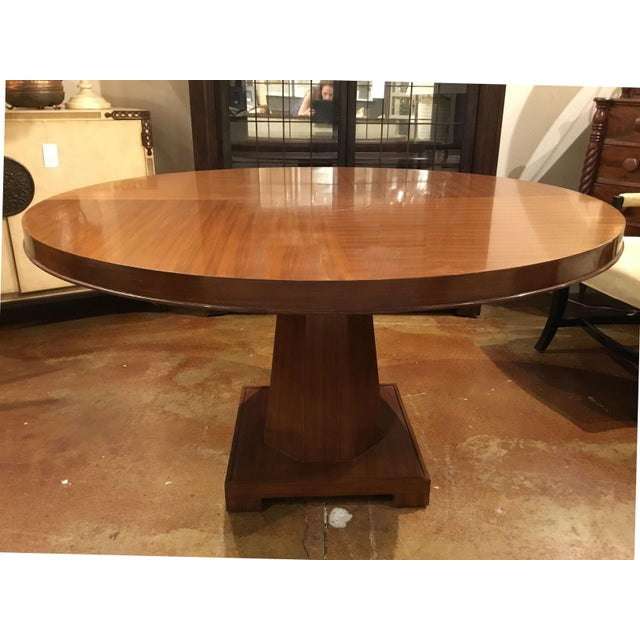 Original Retail $7044, French modern style architectural Barbara Barry for Henredon Ascot Dining Table finished in...