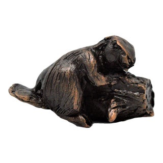 Beaver Knob with Traditional Patina For Sale