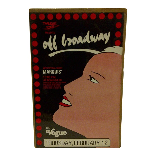 "Circa 1980 Vintage ""Off Broadway"" Theater Poster - Image 1 of 5"