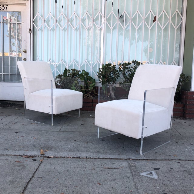 Vintage Lucite Lounge Chairs - A Pair For Sale - Image 12 of 12