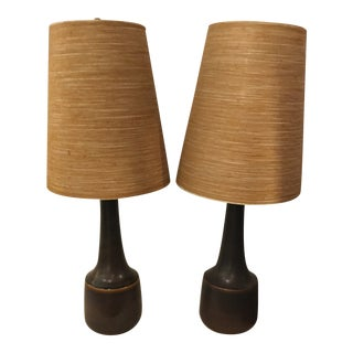 Bostlund Ceramic Lamps - a Pair For Sale