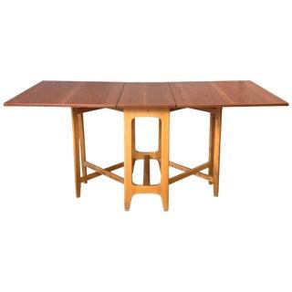 Bendt Winge Designed Drop-Leaf Dining Table for Kleppe Møbelfabrik For Sale