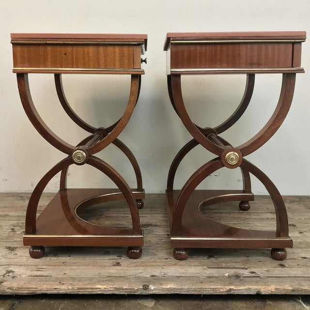Pair Mid-Century French Charles X Side Tables For Sale In Dallas - Image 6 of 13