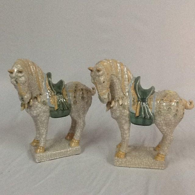 Italian Ceramic Crackle Horses - A Pair - Image 3 of 6