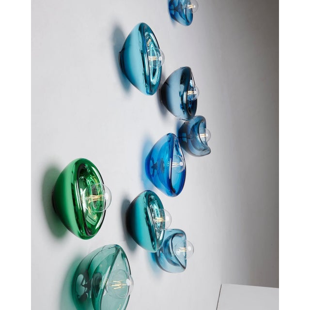 Not Yet Made - Made To Order Aurum Blue Glass Sconces, Alex de Witte For Sale - Image 5 of 7
