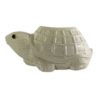 Large Ceramic Turtle Planter For Sale