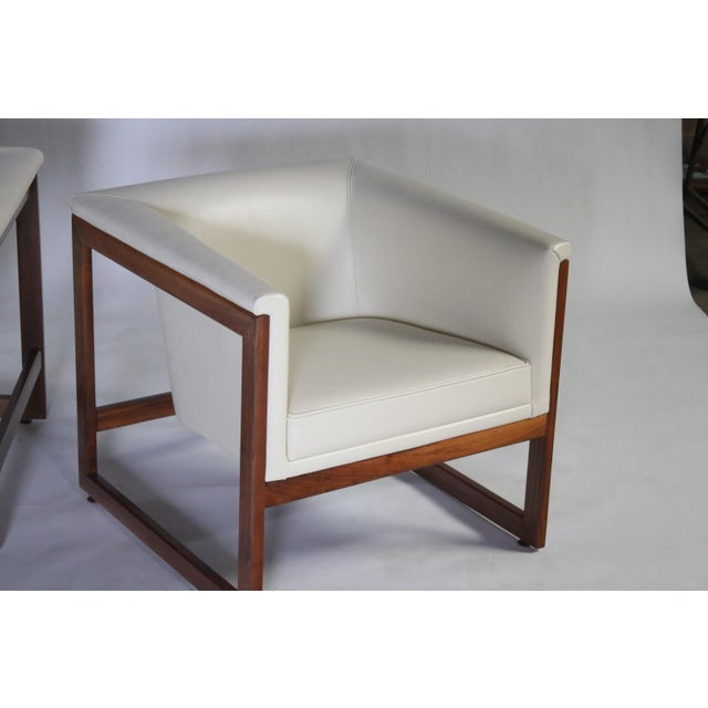 Milo Baughman Floating Cube Club Chairs For Sale - Image 9 of 10