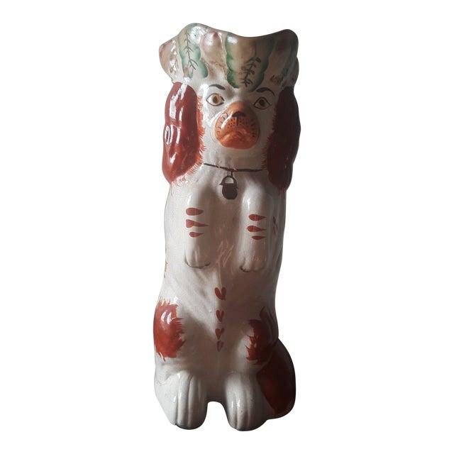 Antique Staffordshire Cocker Spaniel Dog Ceramic Toby Jug For Sale