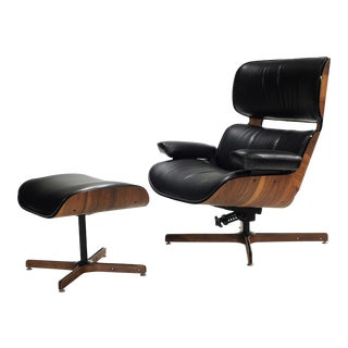 Mr Chair and Ottoman Vip Lounge Chair by George Mulhauser for Plycraft For Sale
