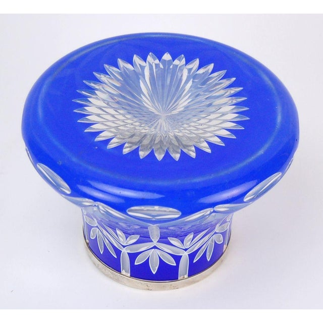 Early 20th Century Bohemian Cased Cut Glass Vase For Sale - Image 4 of 5