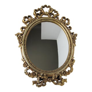 Gold Syroco Wood Ornate Mirror For Sale