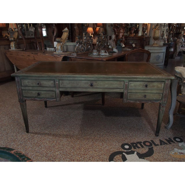 "French ""French Revolution"" Polychrome Desk For Sale - Image 3 of 9"