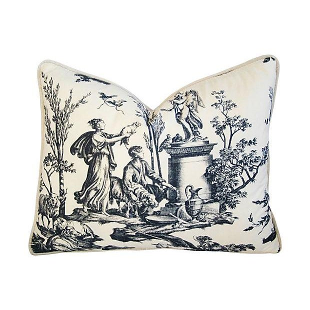 """23"""" X 18"""" Custom Tailored French Country Toile Feather/Down Pillow - Image 3 of 4"""