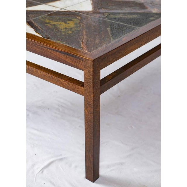 Danish Rosewood Abstract Tile Coffee Table - Image 9 of 10