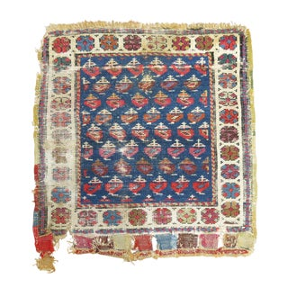 Antique 19th Century Shabby Chic Persian Rug For Sale