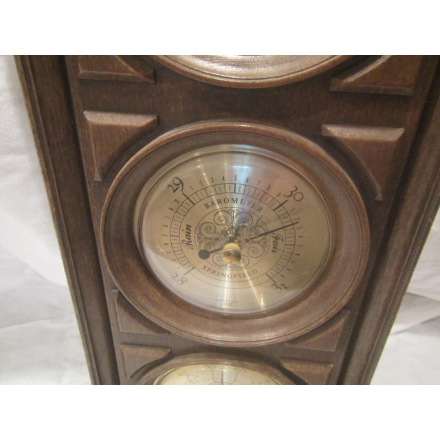 Mid-Century Springfield Thermometer, Barometer, and Humidity Meter For Sale - Image 6 of 8