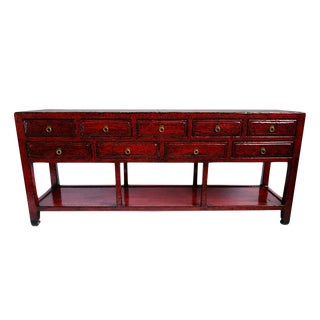 Red Long Ming Console