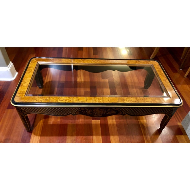 1980s Chinoiserie Drexel Heritage Coffee Table For Sale - Image 11 of 11