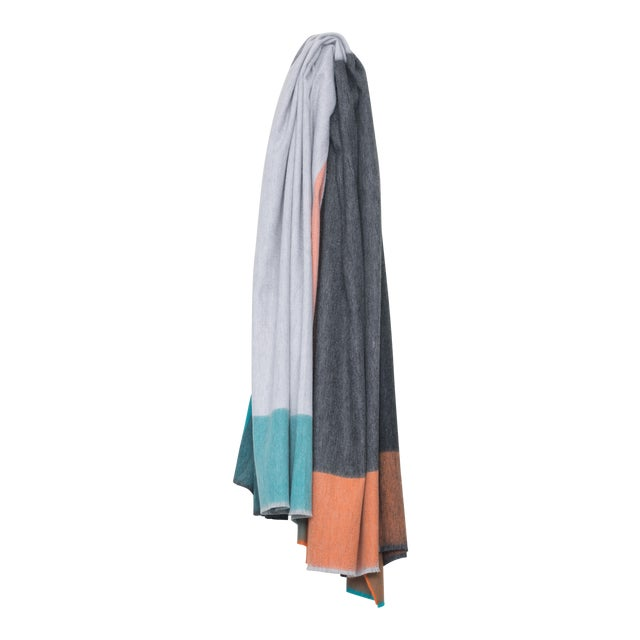 Arran Keppie Cashmere Throw, Light Gray For Sale