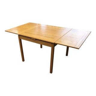 20th Century Danish Modern Ansager Mobler Teak Extending Draw Leaf Dining Table For Sale