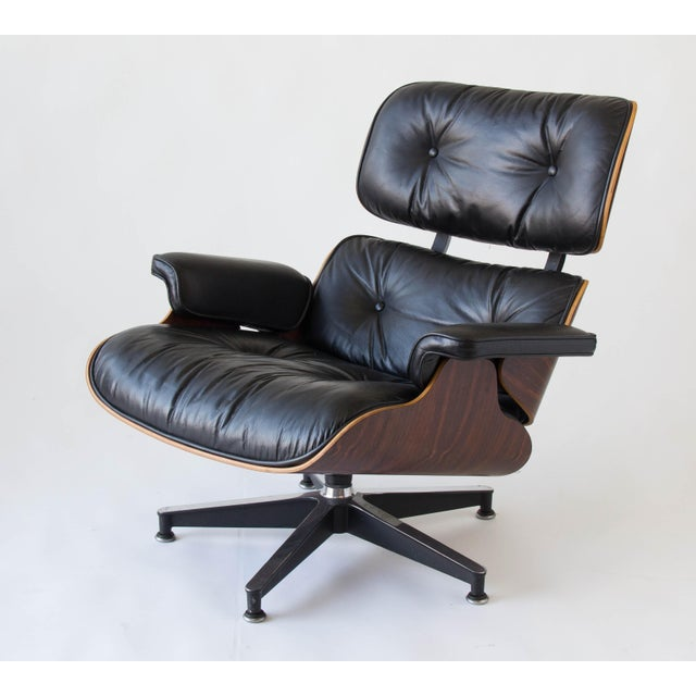 Vintage Eames Lounge Chair With Ottoman - Image 4 of 9