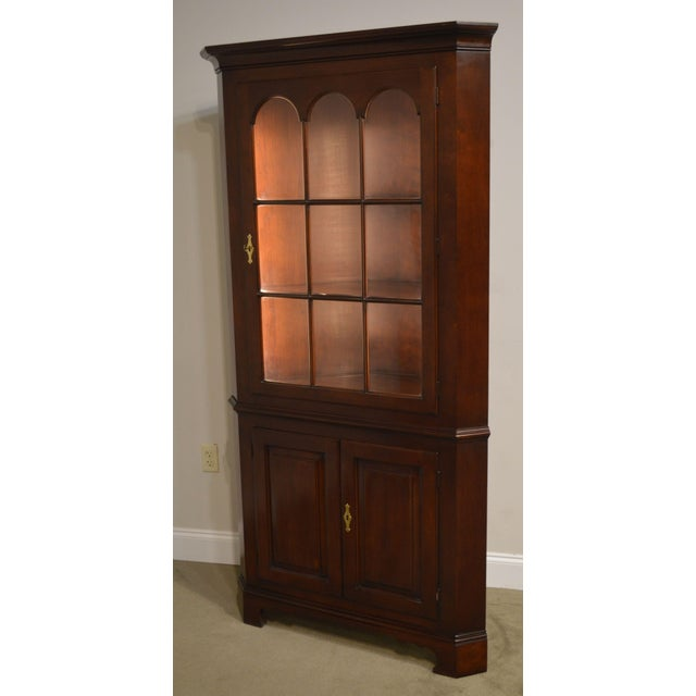 Statton Old Towne Cherry Traditional Corner Cabinet For Sale - Image 9 of 12