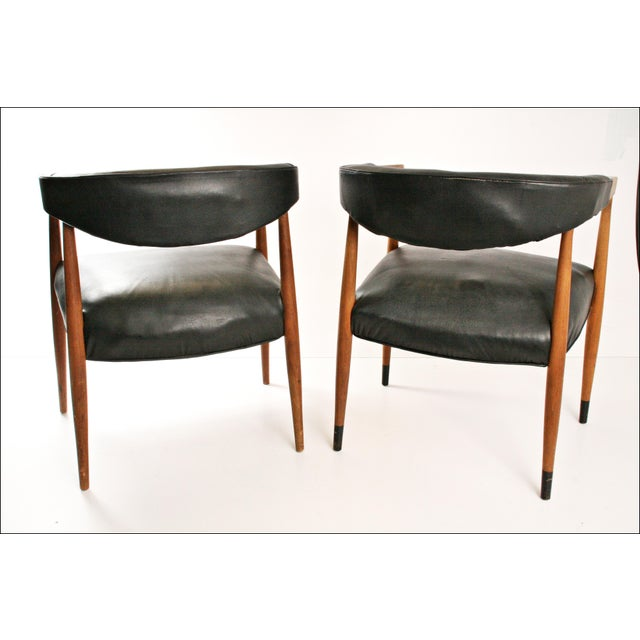 Danish Modern Accent Chairs - Pair - Image 9 of 11