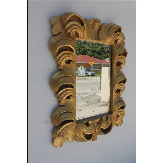 Dorothy Draper-Style Carved Wall Mirror - Image 5 of 11