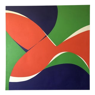 "Monumental Modern Acrylic on Canvas, ""Vibrations"", Betty Usdan-Zwickler, 1982 For Sale"