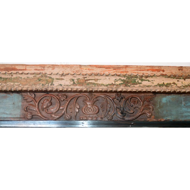 Antique Wood Carved Mirror For Sale - Image 9 of 11