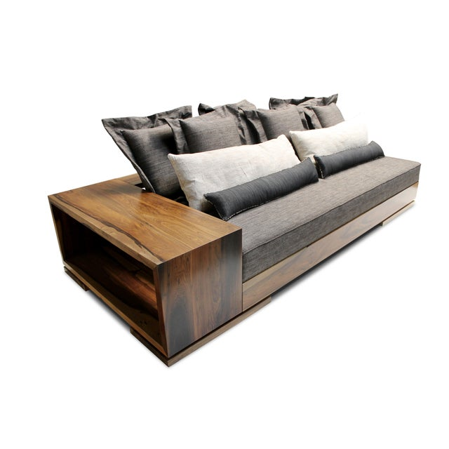 2010s Costantini Patone Custom Modern Sofa in Rosewood For Sale - Image 5 of 7