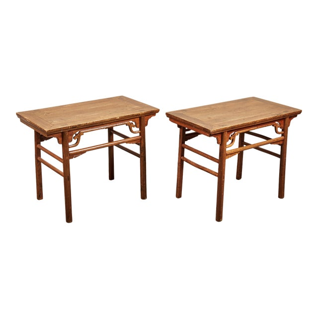 Late 19th C. Chinese Side Tables - a Pair For Sale