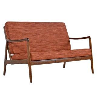 Danish Loveseat Settee Sofa by Ole Wanscher for France & Daverkosen For Sale