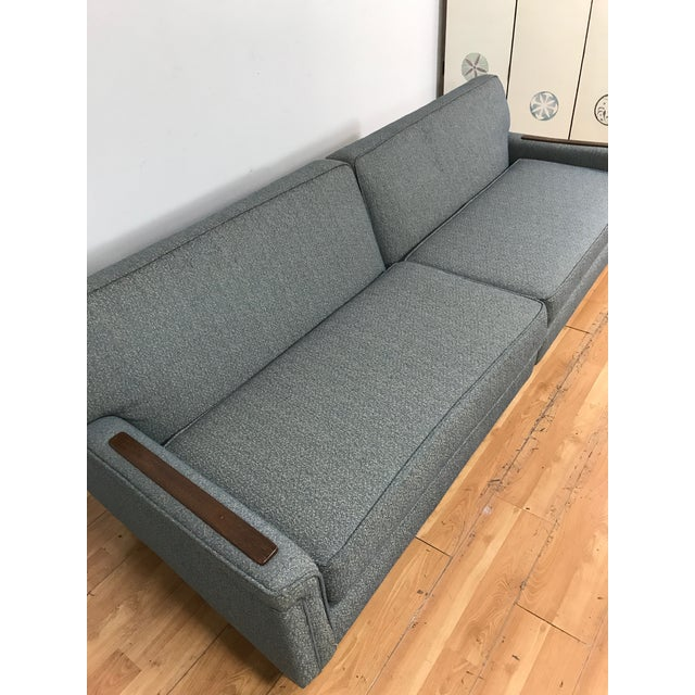 Mid-Century Two Pc. Blue Sectional Sofa For Sale - Image 5 of 7