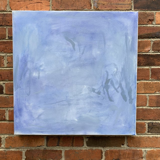 """2020s """"Blue Zen"""" by Trixie Pitts Abstract Oil Painting For Sale - Image 5 of 13"""