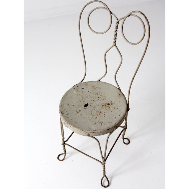 Metal Vintage Ice Cream Parlor Chair For Sale - Image 7 of 9
