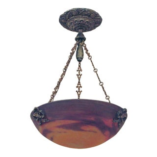 Muller Art Glass Lighting Bowl With Hardware For Sale