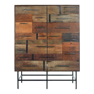 Brutalist Industrial Armoire Dresser Cabinet by Rochdale Spears For Sale