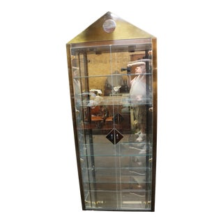 Directoire Style Brass Curio Cabinet For Sale