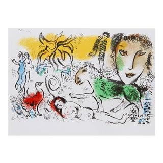 """Marc Chagall, """"Homecoming From Xxe Siecle"""" Modern Art Print For Sale"""