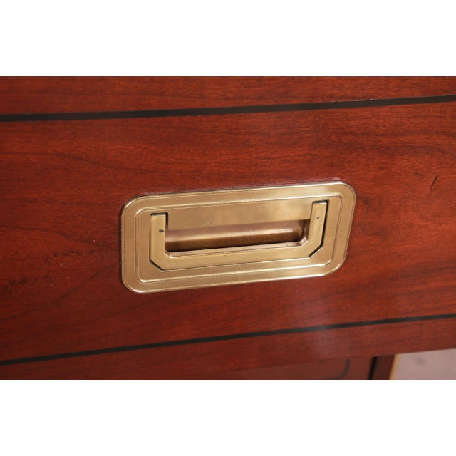 Baker Furniture Brass Campaign Style Long Dresser For Sale - Image 10 of 13