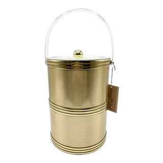 1970's Georges Briard Gold Ice Bucket For Sale