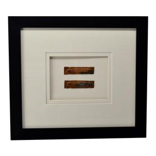 Vintage Copper Mold for Pocket Knife, Framed For Sale
