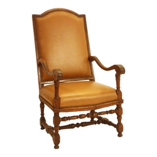 Period Italian Baroque High Back Armchair / Early 18th Century For Sale