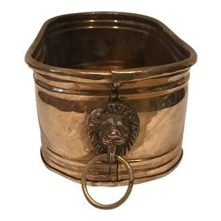Brass Lion Cachepot