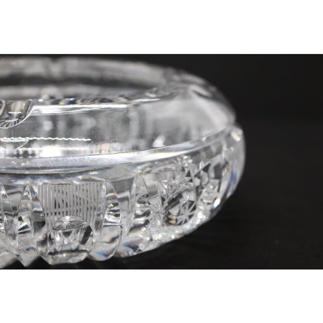 Hollywood Regency 1960s Hollywood Regency Thick Cut Crystal Ashtray For Sale - Image 3 of 8